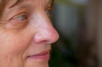 Weibliches gesicht Profil