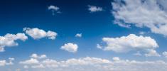 The blue sky panorama  XXXXL size