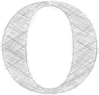 Freehand Typography Letter O