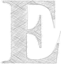 Freehand Typography Letter E
