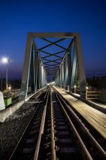Steel bridge, railroad track