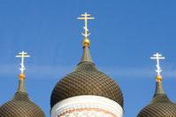 Three domes of the Orthodox Church.