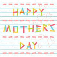 happy mother's day card doodle scrapbook