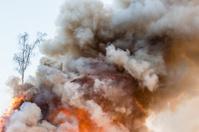 Smoke of Easter Bonfire