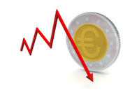 Euro Coins with Down Trend