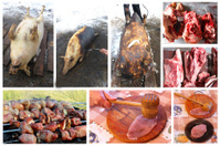 process which passes meat from slaughter to dish