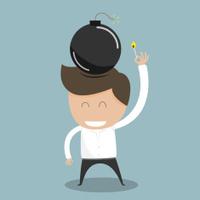 Businessman spark idea concept. Vector illustration
