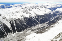View from  Aiguille du Midi to Chamonix, France