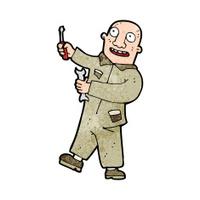 cartoon mechanic