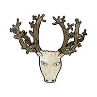 cartoon stag head