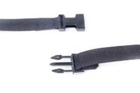 black plastic buckle on strap