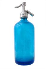 Blue Seltzer Bottle