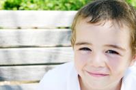 closeup of boy