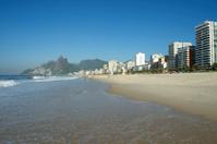 Rio de Janeiro Ipanema Beach Skyline Two Brothers Mountain Brazi