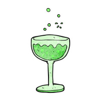 cartoon sparkling cocktail