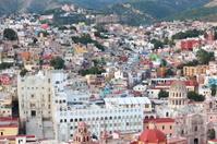 Colorful view of the city Guanajuato, Mexico.