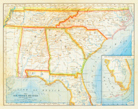 1883 Southern States Map