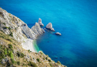 Rocky Shore And Beach, Ancona Italy