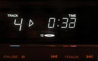 Digital Display of a CD music player.