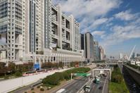Metropolitan Expressway and building area of Odaiba, Tokyo