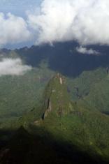 tropical volcanic island