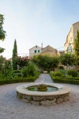cosy yard with fountain in Sibenik, Republic of Croatia