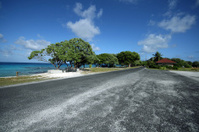 desert road on island