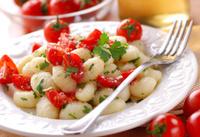 potato gnocchi with cherry tomatoes