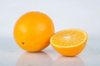 Fresh Juicy Orange on white - Fruits Series