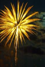 Yellow blurred firework