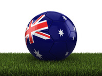 Australia Football / Soccer On Grass