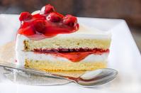 Raspberry cake dessert with raspberries