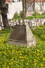 grave on Jewish cemetery in Kraków