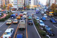 Cityscape of Aoyama Street, Gaien-mae Crossing