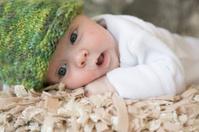 Baby boy closeup