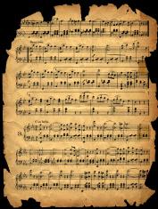 aged worn music sheet