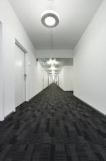 modern building, long corridor