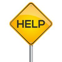 Help warning signpost
