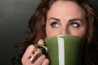 green eyes green mug