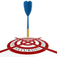 Dart board with Saturday