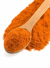 paprika powder and spoon