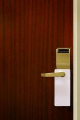 do not disturb sign on hotel door