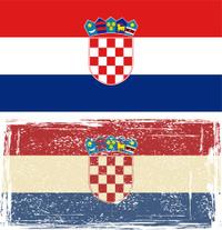 Croatian grunge flag