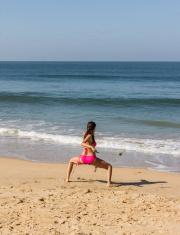 poi dance at the beach of Goa
