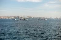 passenger boats at bosphorus istanbul turkey