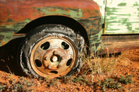 Old Truck Tyre