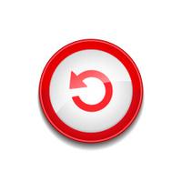 reset circular vector red web icon button stock vector freeimages com