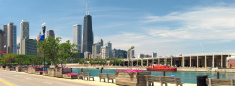 Chicago Northshore Skyline John Hancock Panorama from Navy Pier