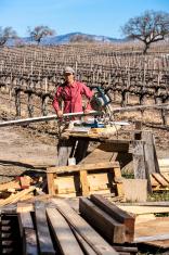 Female carpenter.