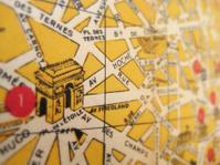Antique Map Paris Arc de Triomphe